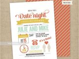 Date Night themed Bridal Shower Invitations Date Night themed Couples Shower Invitation Bridal Shower