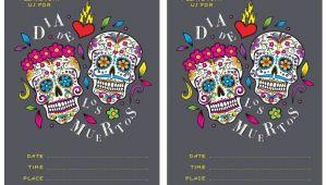 Day Of the Dead Party Invitation Template Free Dia De Los Muertos Invite Printable In 2019 Day Of