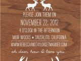 Deer Antler Wedding Invitations Items Similar to Oh Dear Deer Woodgrain and Antler