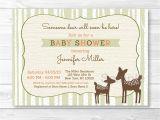 Deer Hunting Baby Shower Invitations Cute Woodland Deer Baby Shower Invitation Deer Baby Shower