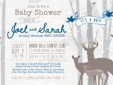 Deer Hunting Baby Shower Invitations Deer Woodland Baby Shower Invitation Digital File