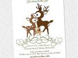 Deer Hunting Baby Shower Invitations Printable Deer Family Baby Shower Invitation Woodland