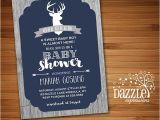 Deer Hunting Baby Shower Invitations Printable Rustic Oh Deer Baby Shower Invitation Wood