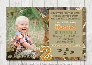 Deer Hunting Birthday Party Invitations Deer Hunting Birthday Invitation Hunting by Printablecandee