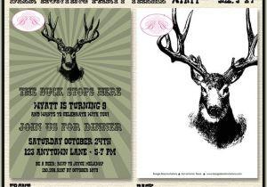 Deer Hunting Birthday Party Invitations Deer Hunting Birthday Party Invitation Buck Elk Hunting Boy