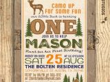 Deer Hunting Birthday Party Invitations Hunting Birthday Invitation Deer Invitation 1st Birthday