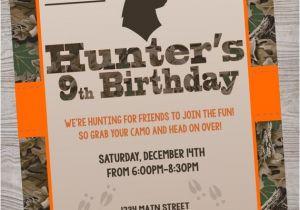 Deer Hunting Birthday Party Invitations Hunting Deer Camo Birthday Baby Shower Party Invitation