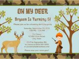 Deer Hunting Birthday Party Invitations Items Similar to Hunting Camo Deer Birthday Party