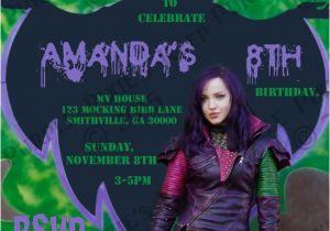 Descendants Party Invitations Printable Free Disney Descendants Birthday Party Invitation Mal