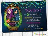 Descendants Party Invitations Printable Free Disney Descendants Birthday Party Invitations and
