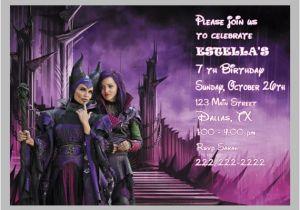 Descendants Party Invitations Printable Free Disney Descendants Birthday Party Invitations and