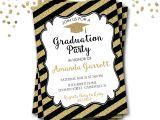Design Graduation Invitations Online Free Black and Gold Graduation Invitations which Free to Downl