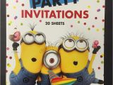 Despicable Me Baby Shower Invitations Despicable Me Minion themed Birthday Baby Shower Party