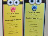 Despicable Me Baby Shower Invitations Minion Baby Shower Invitations