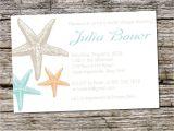 Destination Wedding Bridal Shower Invitations Starfish Elegance Bridal Shower Baby Shower Destination