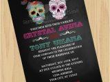 Dia De Los Muertos Wedding Invitations Diy Digital Sugar Skull Invitation Dia De Los Muertos