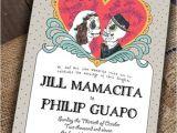 Dia De Los Muertos Wedding Invitations Sample Customizable Cute Day Of the Dead by Luckyladypaper