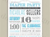 Diaper Party Invitation Template Free Diaper Party Printable Invitation with Color by Doubleudesign