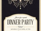Dinner Party Invitation Template Classy Chandelier Dinner Party Invitation Template Free