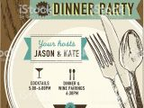Dinner Party Invitation Template Vertical Elegant Dinner Party Invitation Design Template