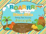 Dinosaur 1st Birthday Party Invitations 17 Dinosaur Birthday Invitations How to Sample Templates