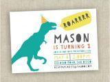 Dinosaur 1st Birthday Party Invitations 30 First Birthday Invitation Templates Free Sample