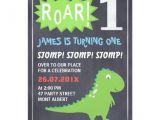 Dinosaur 1st Birthday Party Invitations Boys Dinosaur Chalkboard 1st Birthday Invitation Zazzle