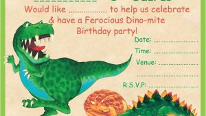 Dinosaur Birthday Invitation Template 19 Roaring Dinosaur Birthday Invitations Kitty Baby Love