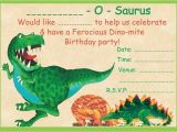 Dinosaur Party Invitation Template Free Boys Dinosaur theme Birthday Party Invitations Kids