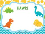Dinosaur Party Invitation Template Free Free Dinosaur Birthday Invitations Free Printable