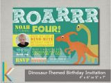 Dinosaur themed Party Invitations Items Similar to Dinosaur themed Birthday Party Photo