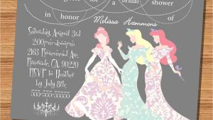 Disney Inspired Bridal Shower Invitations Princess Wedding Shower Invitation Disney Princesses