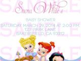 Disney Princess Baby Shower Invites Baby Shower Invitation Princess Disney Babies by