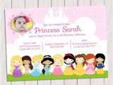 Disney Princess Baby Shower Invites Princess Birthday Party Invitation Princesses