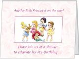 Disney Princess Baby Shower Invites Ur Words Disney Princess Baby Girl Shower Invitations