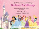 Disney Princess Birthday Invitation Templates Free Disney Princesses Birthday Invitations Disney Princess