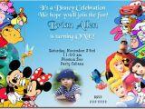Disney themed Party Invitations Disney Birthday Invitations Ideas Bagvania Free