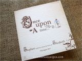 Disney themed Wedding Invitations Folded Wedding Invites once Upon A Time Fairytale themed