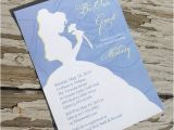 Disney Up Bridal Shower Invitations Disney Beauty and the Beast Belle Bridal Shower Invitation