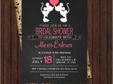 Disney Up Bridal Shower Invitations Retro Bridal Shower Invitations Minnie and Mickey Black