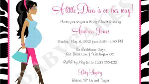 Diva Baby Shower Invitations Diva Baby Shower Invitation Zebra Print totally Fabulous Diy
