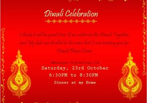 Diwali Party Invite Template Invitation format for Diwali Party