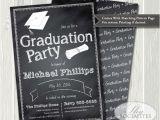 Diy Graduation Party Invitations Chalkboard Graduation Invitation Graduation Party