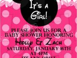 Diy Minnie Mouse Baby Shower Invitations Diy Printable Minnie Mouse Baby Girl Shower Invitation