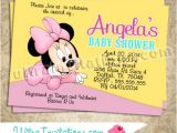 Diy Minnie Mouse Baby Shower Invitations Minnie Mouse Invites Baby Shower Diy Digital or Prints