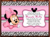 Diy Minnie Mouse Baby Shower Invitations Off Zebra and Minnie Mouse Baby Diy Printable Baby