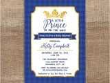 Diy Prince Baby Shower Invitations Little Prince Invitation Royal Blue and Gold by Laprintables