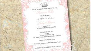 Diy Princess Baby Shower Invitations Princess Baby Shower Invitation Diy by Sbstudiodesign On Etsy