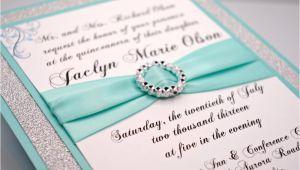 Diy Quinceanera Invitations Diy Aqua Wedding Quinceanera Sweet Sixteen by Invitebling