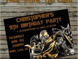 Diy Transformer Birthday Invitations Transformer Birthday Invitation Diy Custom order